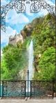 Водопад в ажурной рамке