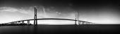 Вантовый мост чб