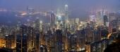 Ночной город в дымке