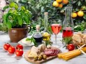 Вино томаты сыр