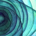 Абстракция. Акварельные круги