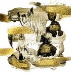 Абстракция. Золотистые деревья