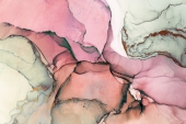 Абстракция Мрамор. Амарантово-пурпурная дымка