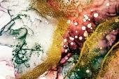 Абстракция мрамор. Бирюзово-вишневое золото