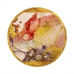 Астракция Мрамор. Золотой корал