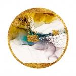Абстракция Мрамор. Фиолет и бирюза