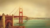 Город. Сан-франциско Красный мост