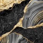 Абстракция мрамор. Черный мрамор с золотом