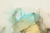 Абстракция мрамор. Зеленый дым