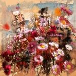 Хризантемы в цвету