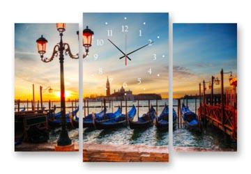 триптих картина лодки в венеции