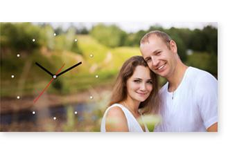 Часы с фотографией на свадьбу