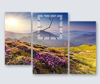часы с фотографией природа