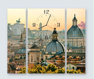 часы с фотографией город