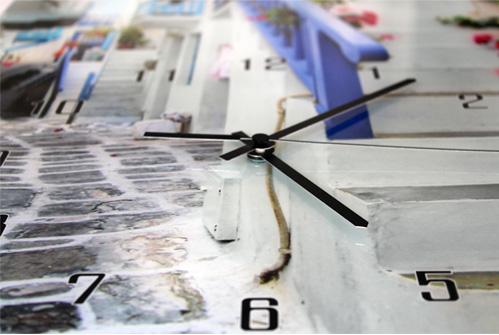 часы с фотографией из стекла