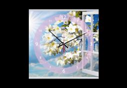 настенные часы с сюжетом Цветы