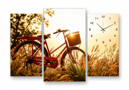 настенные часы Велосипед на закате