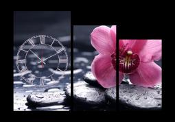 настенные часы Чайная орхидея в воде