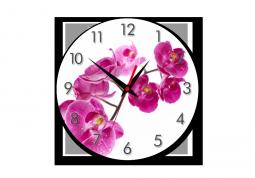 настенные часы Капли на лепестках орхидеи