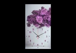 настенные часы Сирень на белом фоне