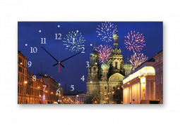 настенные часы с сюжетом Город