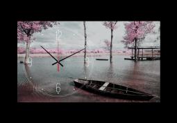 настенные часы Розовый пейзаж