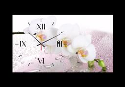 настенные часы Орхидея в каплях воды