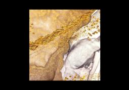 модульная картина Абстракция Мрамор. Золотые пески