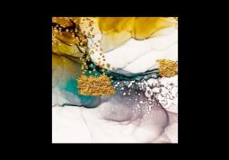 модульная картина Абстракция Мрамор. Фиолет и бирюза