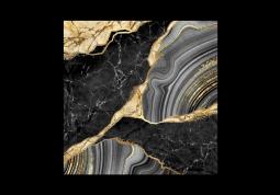 модульная картина Абстракция мрамор. Черный мрамор с золотом