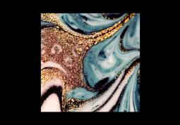 модульная картина Абстракция мрамор. Голубая лава