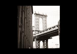 модульная картина  Город. Нью-Йорк мост за углом