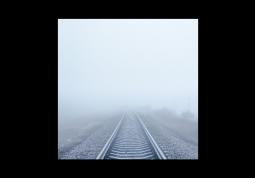 модульная картина Природа. Железная дорога в тумане