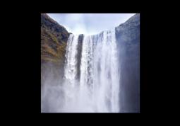 модульная картина Природа. Брызги водопада