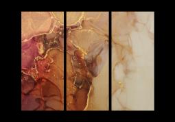 модульная картина Абстракция Мрамор. Ярко-янтарная дымка
