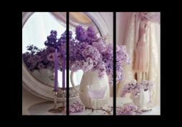 модульная картина Сирень и свечи