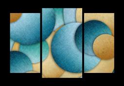 модульная картина Астракция. Круги