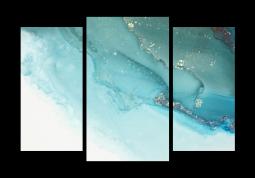 модульная картина Абстракция мрамор. Небесная пыль