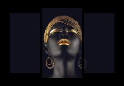 модульная картина Золотая африканка