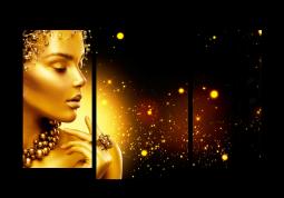 модульная картина Золотая пыль и девушка