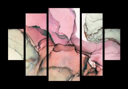 модульная картина Абстракция Мрамор. Амарантово-пурпурная дымка