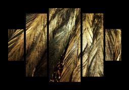 модульная картина Природа. Золотые перья