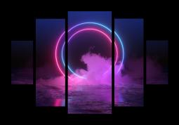 модульная картина Неон в облаках