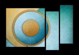 модульная картина Абстракция. Бирюзовый акцент Живопись