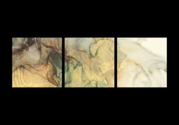 модульная картина Абстракция мрамор. Коричневый дым
