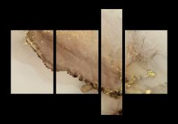 модульная картина Абстракция мрамор. Золотая пыль
