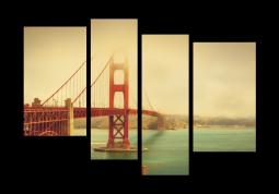 модульная картина Город. Сан-франциско Красный мост