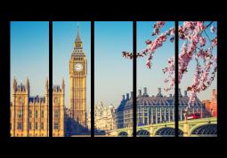 модульная картина Город. Весенний Лондон