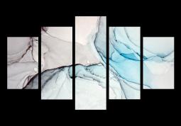 модульная картина Абстракция Мрамор. Агатовая дымка