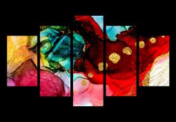 модульная картина Абстракция мрамор. Яркость